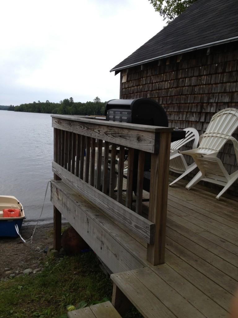 Side deck looking at Sebec Lake