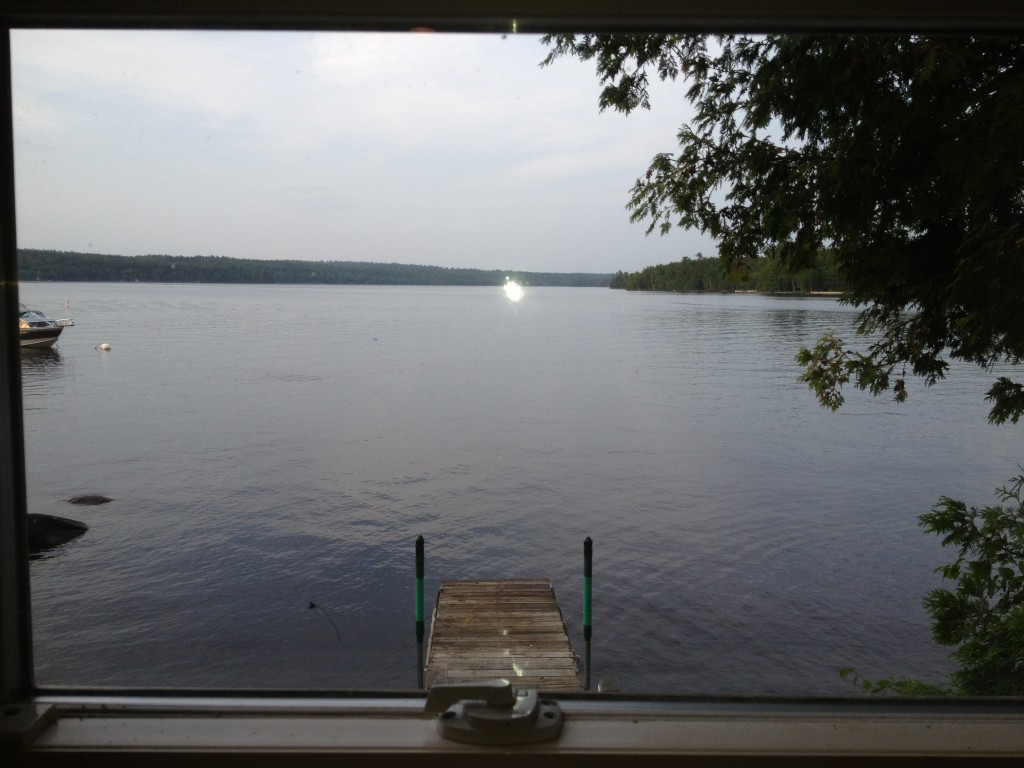 Views Of Sebec Lake From The Cottage Lakefront Rental