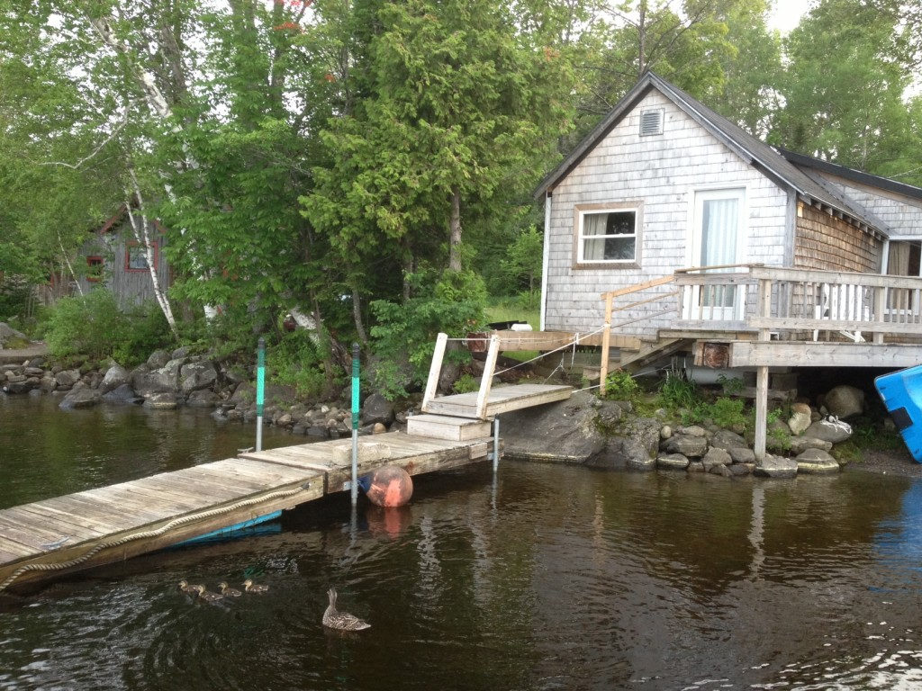 Lakefront cottage and dock