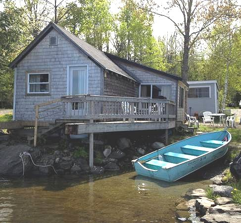 lakefront cottage on Sebec lake